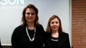 Cecilia Tessieri con la Prof.ssa Angela Tarabella al Master Food
