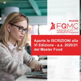 20/07/2020: aperte le Iscrizioni alla VI Edizione del Master Food